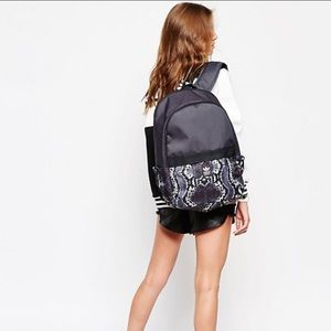 adidas Originals gray snake print backpack